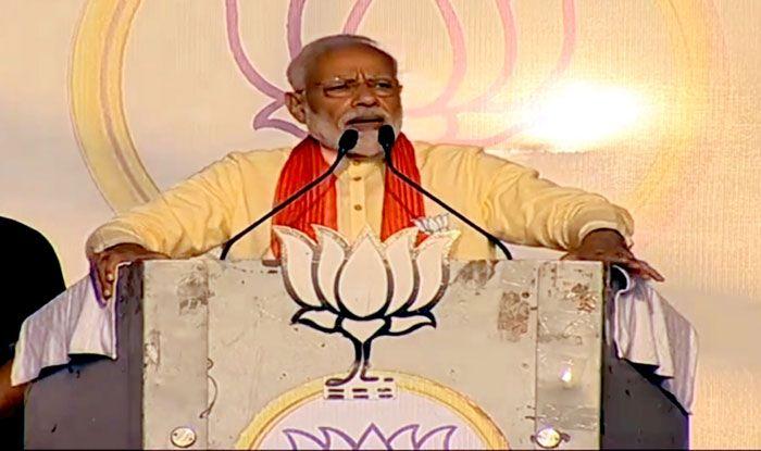 Prime Minister Narendra Modi in Mathurapur