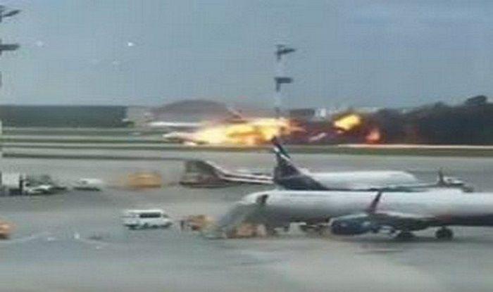 Moscow passenger plane fire