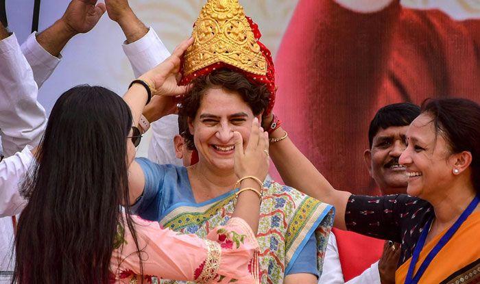 Congress leader Priyanka Gandhi Vadra in Pratapgarh