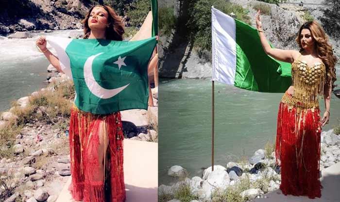 Rakhi Sawant Clarifies After Posing With Pakistan Flag