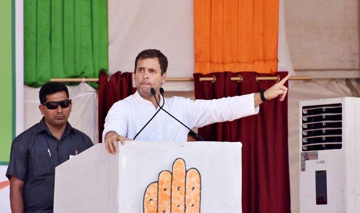 Congress president Rahul Gandhi in Chaibasa
