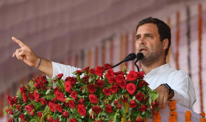 Congress chief Rahul Gandhi in Rewa