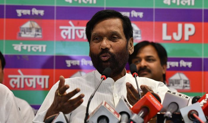 Lok Janshakti Party president Ram Vilas Paswan. Photo Courtesy: IANS