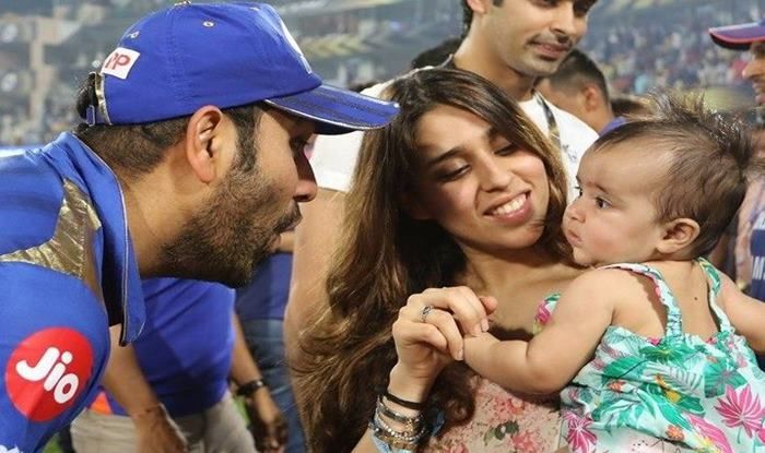 Rohit Sharma with family_picture credits-Twitter
