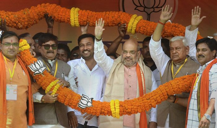 BJP chief Amit Shah in Dhanbad