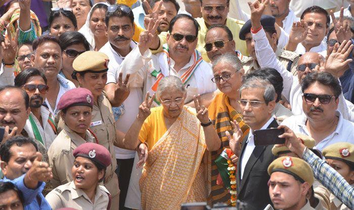 Veteran Congress leader Sheila Dikshit