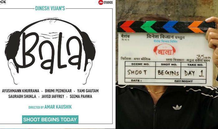 Ayushmann Khurrana And Bhumi Pednekar Begin Baala, Poster Shows a Bald Man
