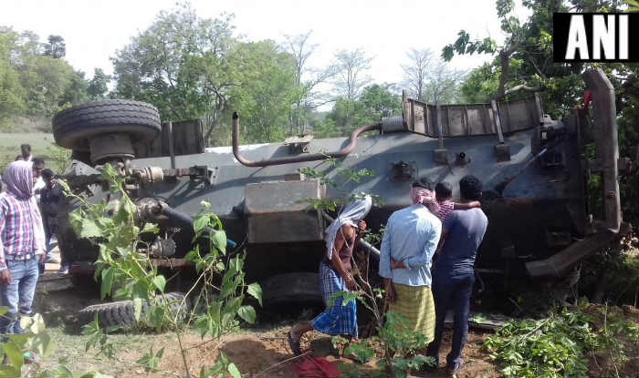 Anti-Landmine Vehicle Topples Over in Bengal's Barabazar, 12 Police Personnel Injured