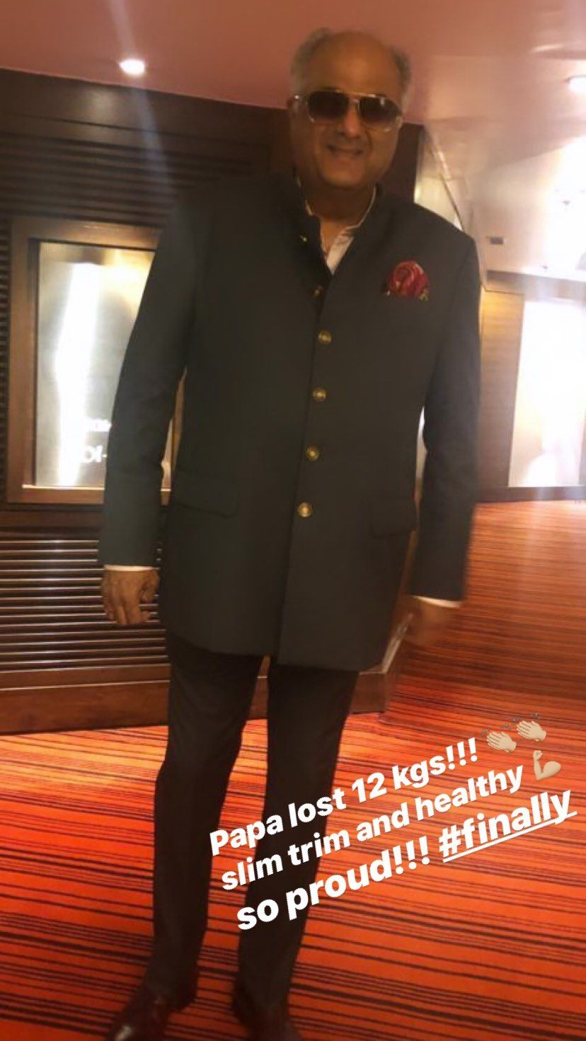 Janhvi Kapoor shares picture of father Boney Kapoor