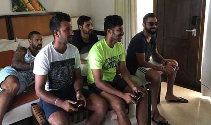 members of Indian cricket team gaming_picture credits-Twitter