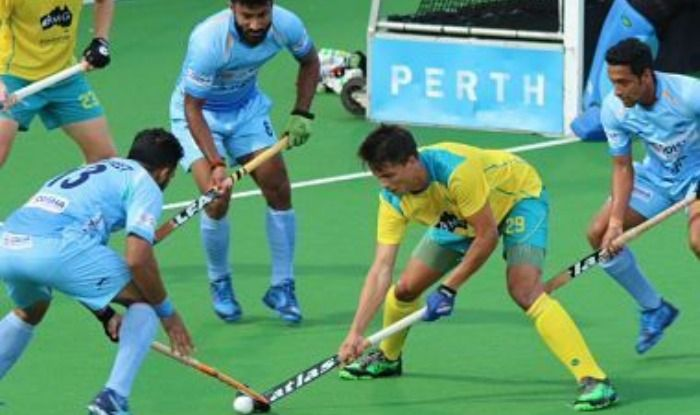 Indian men's hockey team during match