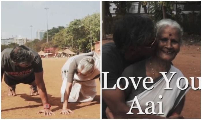 Mother's Day: Milind Soman Kissing His 'Aai' After She Does 15 Push-ups in THIS Viral Video Melts Fans Hearts!