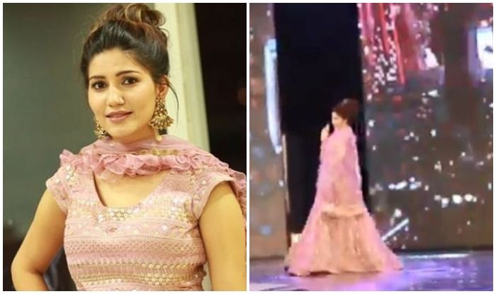 Haryanvi Bomb Sapna Choudhary Sizzles in Sexy Pink Lehenga as She Flaunts Thumkas at a Stage Show in Dehradun-Watch