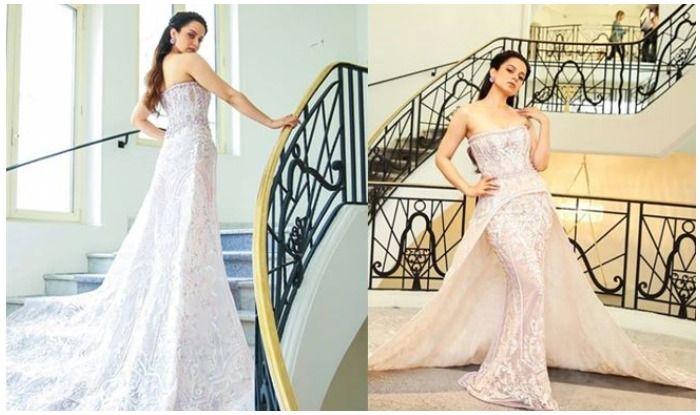 Kangana Ranaut Flaunts Princess-Like Look at Cannes Red Carpet, See Pics