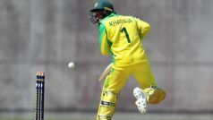 Usman Khawaja Survives Russell's Nasty Bouncer