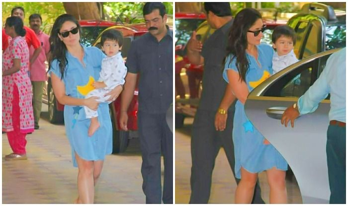 Taimur Ali Khan's Awwdorable Night-Suit Look in Mommy Kareena Kapoor Khan's Arms Sets Paps Gushing!
