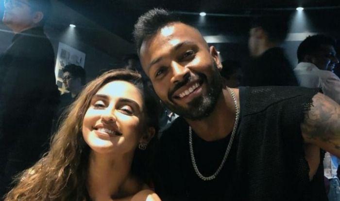 Krystle D'Souza with Hardik Pandya
