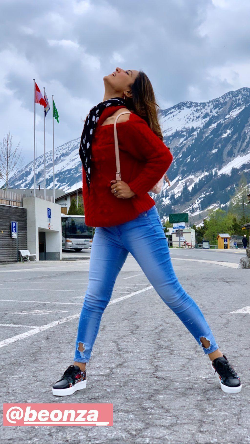 Hina Khan in Switzerland