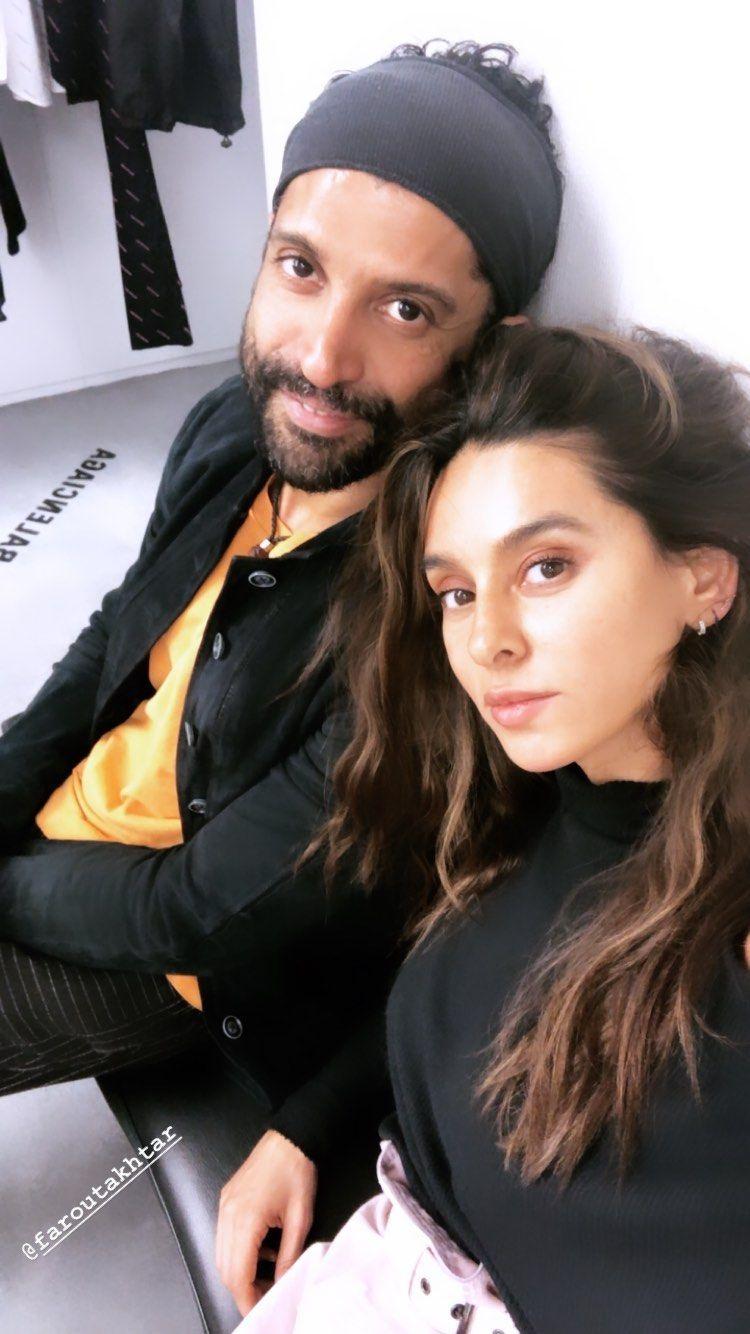 Farhan Akhtar and Shibani Dandekar in London