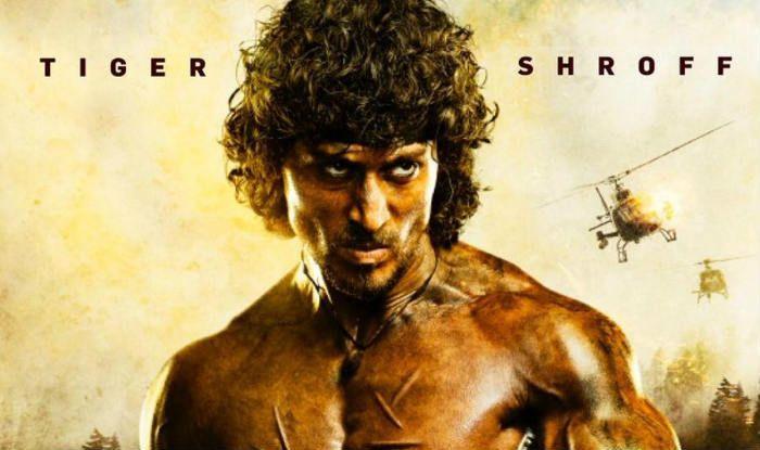 Tiger Shroff on a poster of Hindi adaptation of Rambor movie
