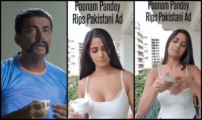 India vs Pakistan, Poonam Pandey, Poonam Pandey hot picture, Poonam Pandey trolls pakistan ad, abhinandan, wing commander abhinandan, Poonam Pandey age, Ind vs Pak, Pak vs Ind, ICC Cricket World Cup 2019, ICC World Cup 2019, Cricket News, Manchester, Old Trafford, weather, rain