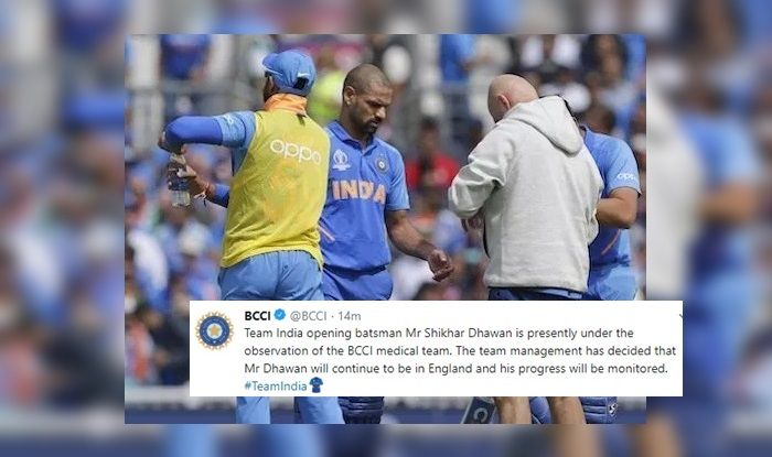 Shikhar Dhawan, BCCI, Shikhar Dhawan under observation, Shikhar Dhawan injury, Shikhar Dhawan ruled out of World Cup 2019, ICC World Cup 2019, Indian Cricket Team, Ind vs NZ, Team India, Cricket News