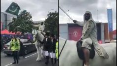 Extremely Bizarre! Pakistan Fan Comes to Old Trafford For IND vs PAK CWC'19 Clash on a Horse | WATCH