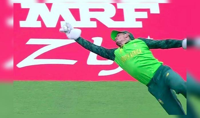 Virat Kohli, Quinton De Kock, Quinton De Kock catch, Andile Phelukwayo, Indian Cricket Team, Ind vs SA, SA vs Ind, ICC Cricket World Cup 2019, ICC World Cup 2019, Cricket News