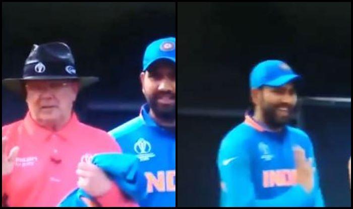 Rohit Sharma, Rohit Sharma mocks umpire, Steve Smith, DRS, Review, Umpire, Team India, Kennington Oval, London, ICC Cricket World Cup 2019, Cricket News, Aus vs Ind, ICC World Cup 2019, Indian Cricket Team