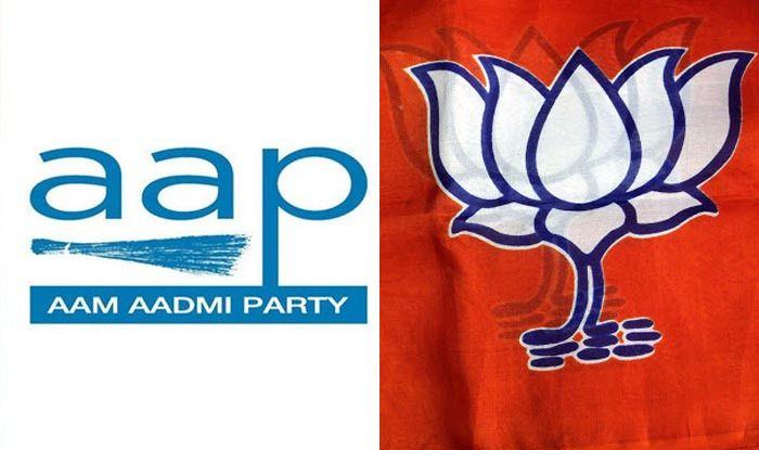 AAP and BJP symbols. Photo Courtesy: IANS
