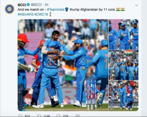 India vs Afghanistan, ICC Cricket World Cup 2019, World Cup 2019, IND vs AFG, BCCI Faces Criticism on Social Media, BCCI draws flak on Twitter, Cricket News, Fans Troll BCCI, Team India, BCCI-Team India, IND vs AFG World Cup