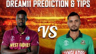 Dream11 Team Prediction West Indies vs Bangladesh ICC Cricket World Cup 2019 – Cricket Prediction Tips For Today's World Cup Match WI vs BAN at The Cooper Associates County Ground, Taunton