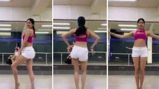 Viral Video: Janhvi Kapoor Shows off Her Belly Dance Moves on Song 'Zingaat' For Dance Deewane Challenge