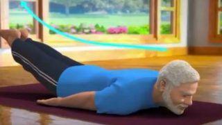 International Yoga Day 2019: PM Narendra Modi Tweets New Animated Yoga Video, Demonstrates Shalabhasana