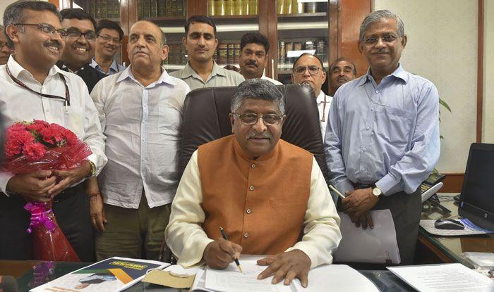 Union Law Minister Ravi Shankar Prasad. Photo Courtesy: PTI