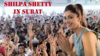 Shilpa Shetty Teaches Yoga in Gujarat's Surat Ahead of International Yoga Day