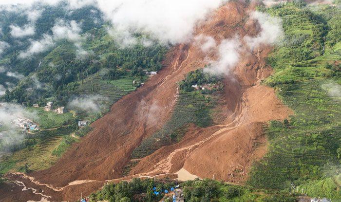 China landslides, Guizhou, Pingdi Village, Shuicheng county, Hezhang County