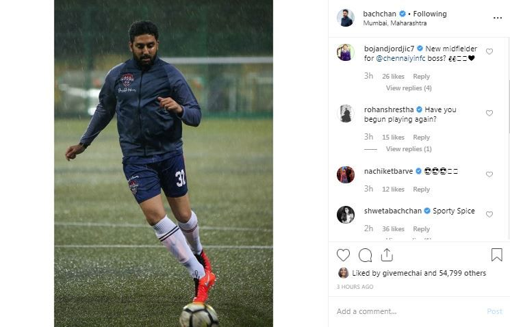 Bojan Djordjic and Shweta Bachchan's flattering comments on Abhishek Bachchan's latest Instagram post