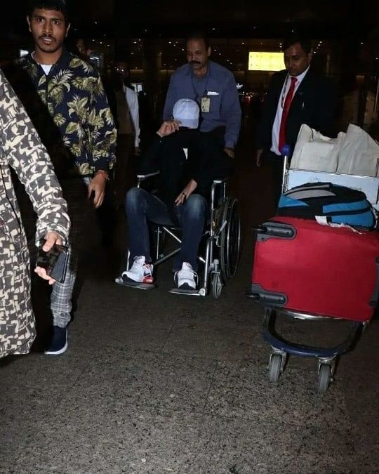 Irrfan Khan spotted in a wheelchair at the airport
