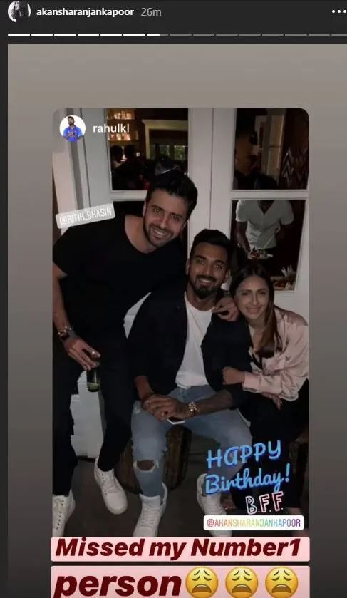 KL Rahul's Sweet Birthday Wish For 'BFF' Akansha Ranjan Kapoor Cannot be Missed, latest news KL Rahul, KL Rahul Latest News, India vs South Africa, latest news Akansha Ranjan Kapoor, Akansha Ranjan Kapoor latest news, Ind vs SA, Ind vs SA latest news, latest news Ind vs SA, Mohali weather, 2nd T20I, KL Rahul, age, KL Rahul Instagram, KL Rahul wife, KL Rahul controversy