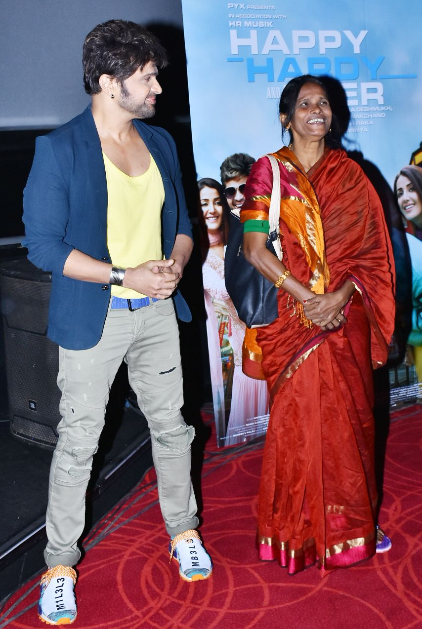 Ranu Mondal with With Himesh Reshammiya