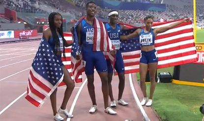 USA mixed relay team iaaf 2019 photo