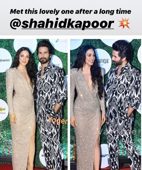 Kiara Advani and Shahid Kapoor at Award Night