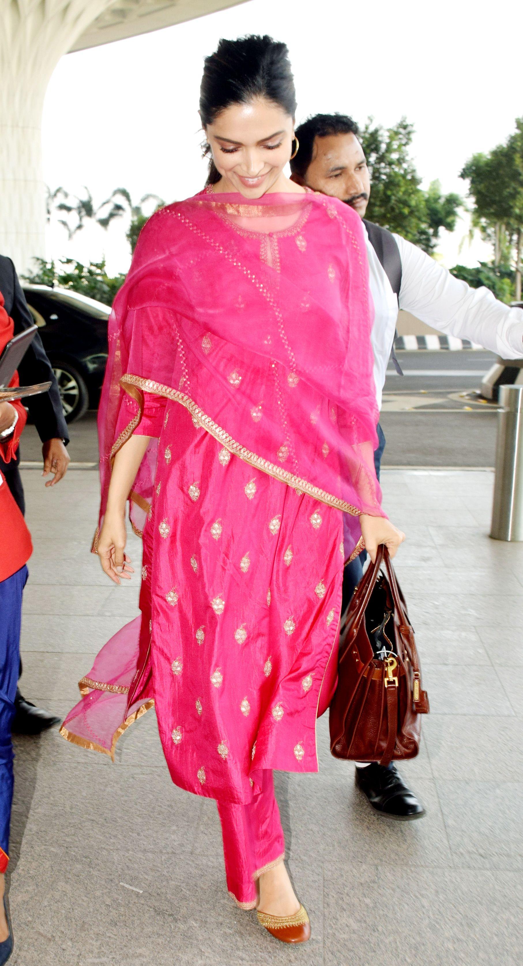 Gorgeous! Deepika Padukone Turns Heads at Airport Dressed ...
