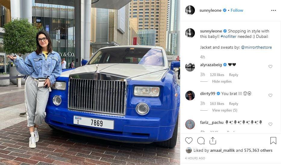 Daniel Weber's comment on Sunny Leone's Instagram post