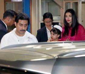 Abhishek Bachchan, Aaradhya Bachchan and Aishwarya Rai Bachchan