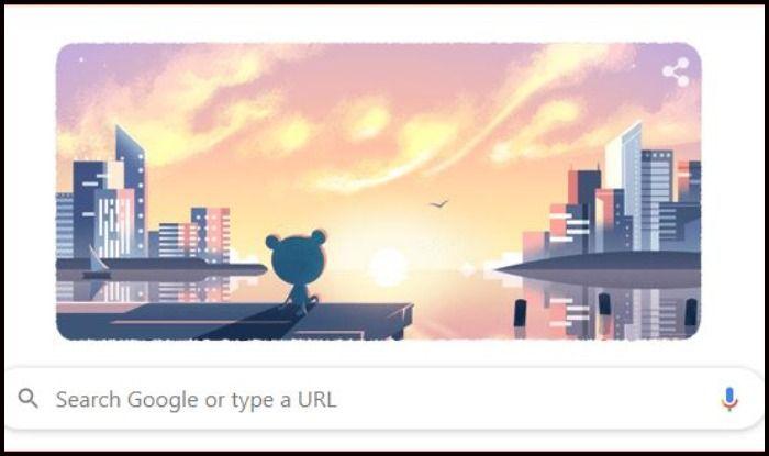 Google Doodle on January 1, 2020