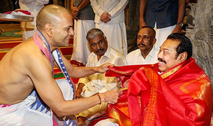 Mahinda Rajapaksa, Tirumala Sri Venkateswara Temple, Vedic hymns, Sri Lanka