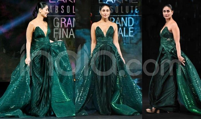Kareena Kapoor Khan Looks Resplendent In Green As She Walks For Amit Aggarwal At Lakme Fashion Week 2020 India Com