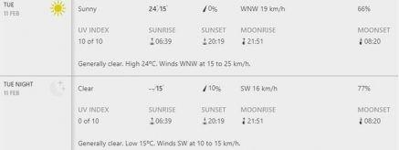 weather february 11 Bay Oval, Mount Maunganui photo